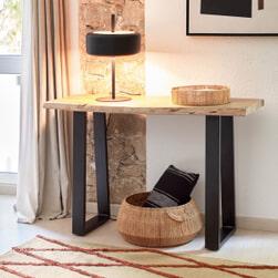 Kave Home Sidetable 'Alaia' Acaciahout, 140cm