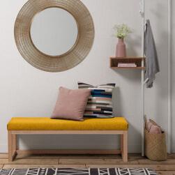 Kave Home Halbank 'Loya' kleur Mosterdgeel