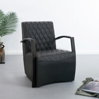 Tower Living Fauteuil 'León' kleur antraciet