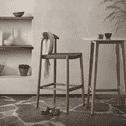 Kave Home Barkruk 'Nina' (zithoogte 62cm), kleur Beige