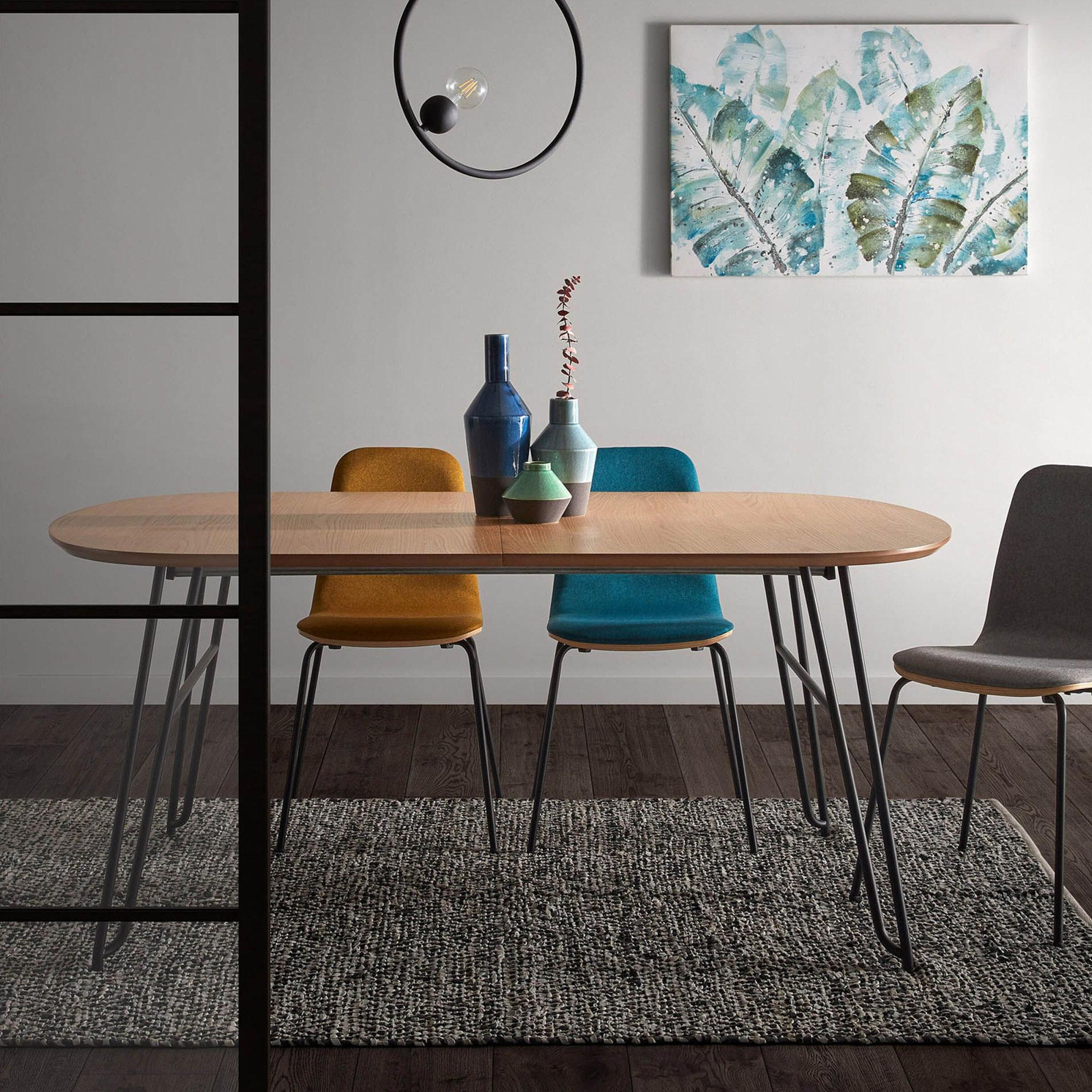 Kave Home Uitschuifbare Ovale Eettafel 'Novac' 140 220 x 90cm