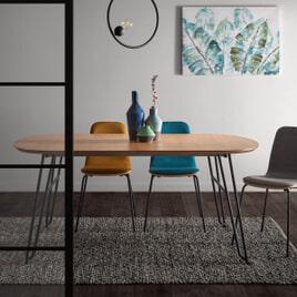 Kave Home Uitschuifbare Ovale Eettafel 'Novac' 140 - 220 x 90cm
