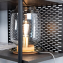 Kave Home Wandrek 'Milian' kleur Zwart