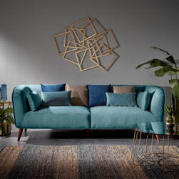 Kave Home 3-zits Bank 'Olost' Fluweel, kleur turquoise