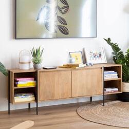 Kave Home Dressoir 'Palmia' 185cm, kleur Naturel