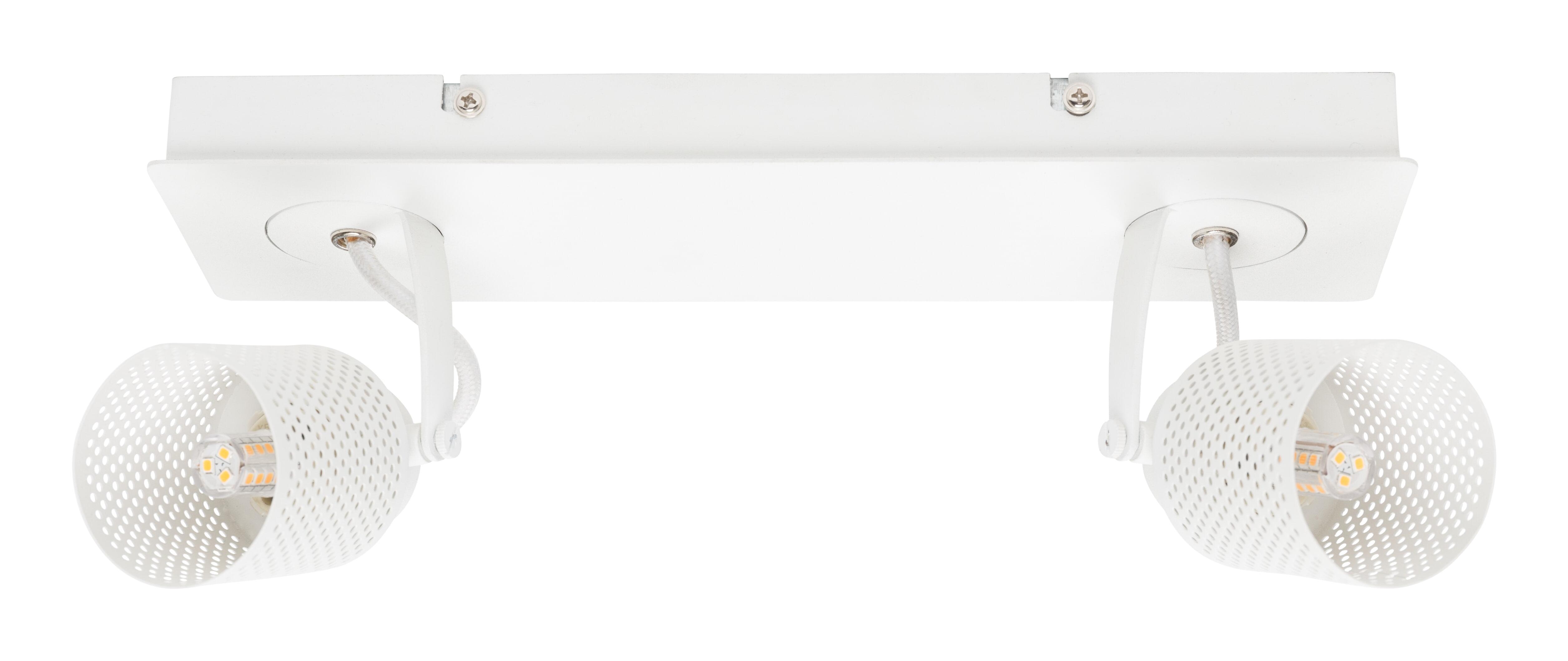 Plafondspot 'Franklyn' LED 2-lamps, kleur wit