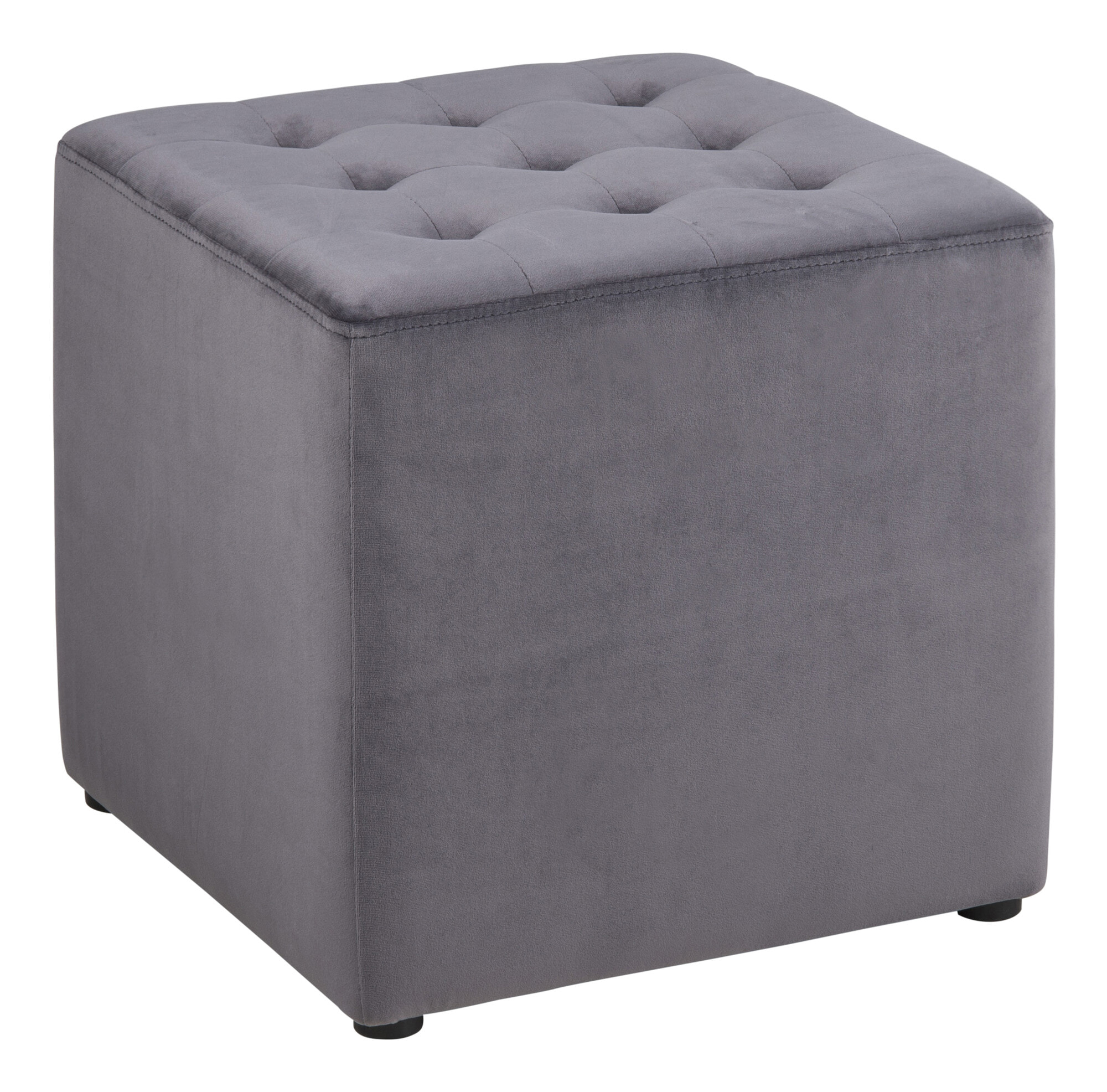 Poef 'Meja' kleur grijs