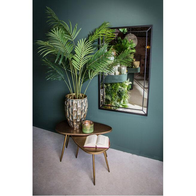 PTMD Spiegel 'Djy', antiek glas, 120 x 74cm, kleur Zwart