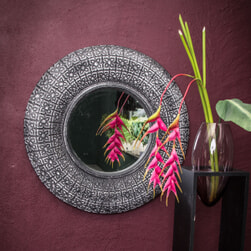 PTMD Spiegel 'Elvire', Kunsthars, 80cm, kleur Donker Grijs