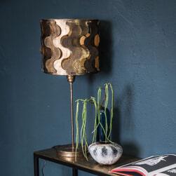 PTMD Tafellamp 'Zyla Brass', Metaal, 65 x 29,5cm, kleur Goud