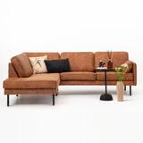 Sohome Hoekbank 'Zeno'-Cognac-Lounge links