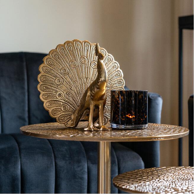 Richmond Decoratie 'Peaky' Pauw, kleur Goud
