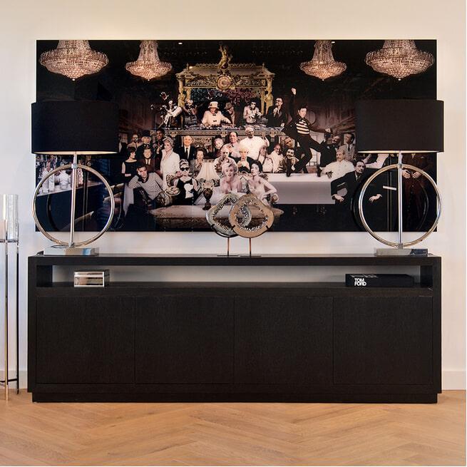 Richmond Dressoir 'Oakura' Eikenhout, kleur Zwart, 240cm