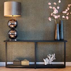 Richmond Sidetable 'Oakura' Eikenhout en Staal, kleur Zwart, 180cm