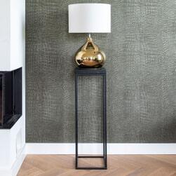 Richmond Pilaar 'Oakura' Hout en Staal, kleur Zwart