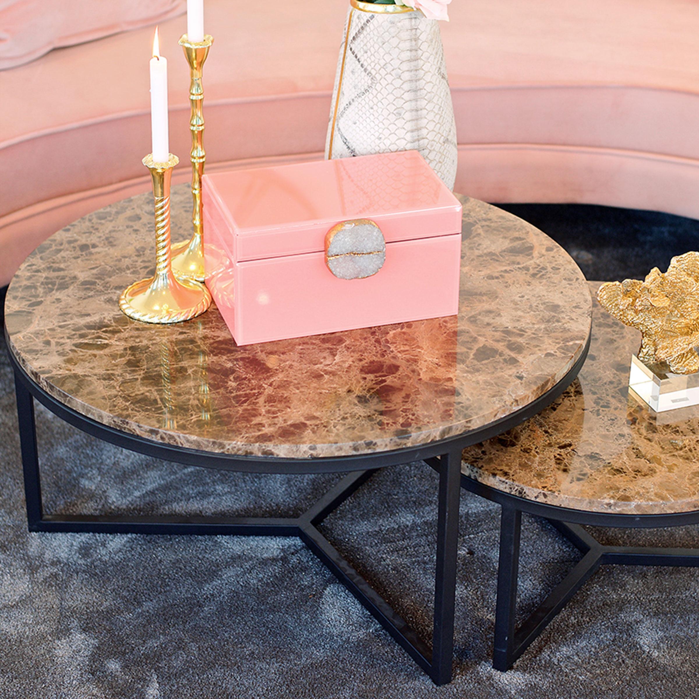 Richmond Salontafel 'Orion' Marmer en Staal, Ø 80cm