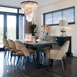 Richmond Eettafel 'Herringbone' 200 x 100cm, Eikenhout en Staal