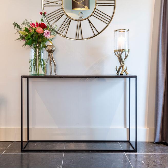 Richmond Sidetable 'Bolder' kleur Zwart, 118cm