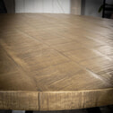 Ronde Eettafel 'Ivo' 120cm, kleur blank antiek
