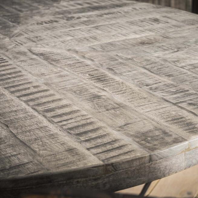 Ronde Eettafel 'Nikolaj' 120cm, Mangohout