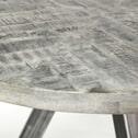 Ronde Eettafel 'Nikolaj' 120cm, Mangohout, kleur Grijs