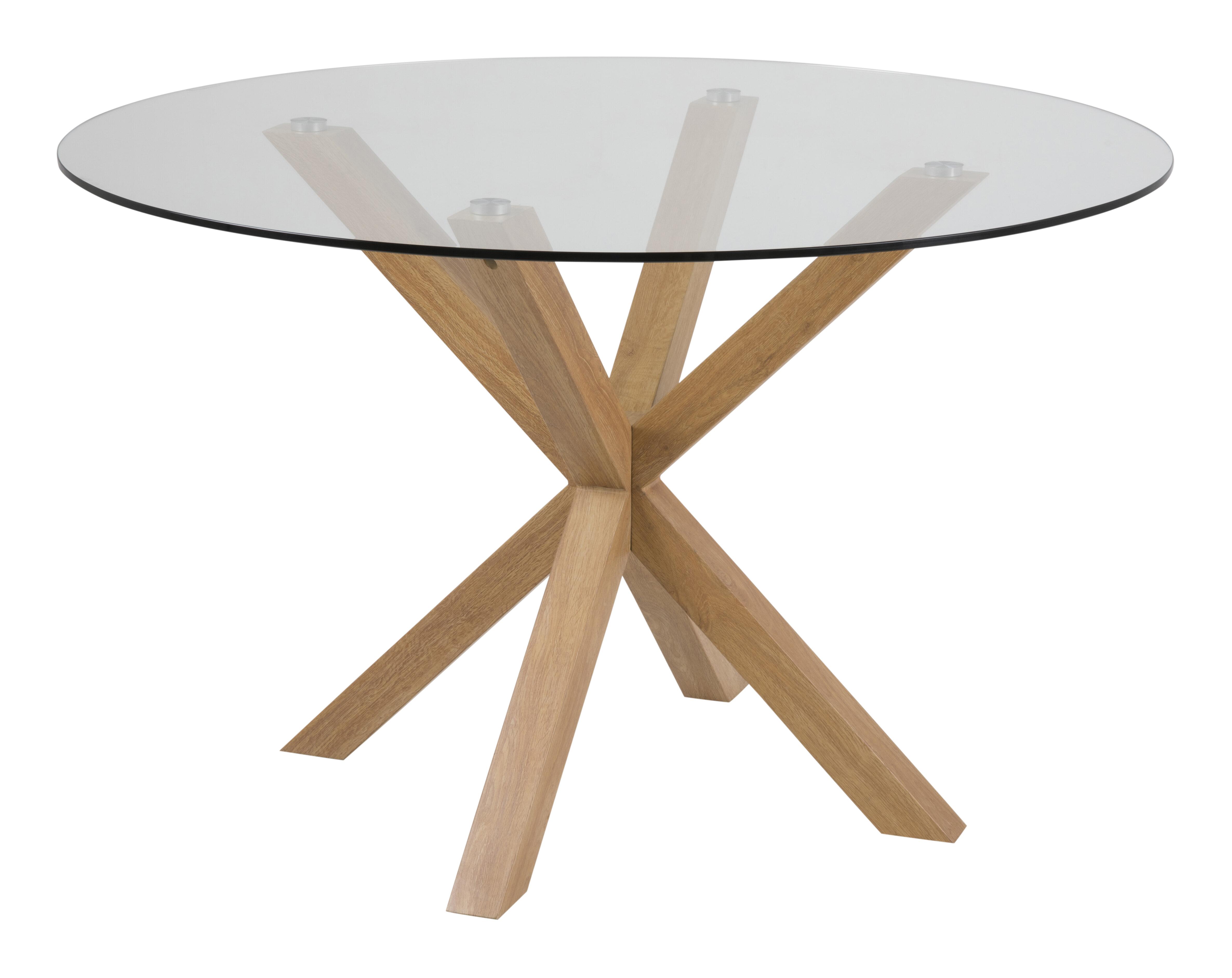 Uw partner in meubels: Bendt Ronde glazen Eettafel 'Line' 119cm Tafels | Eettafels