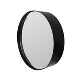 Ronde Spiegel 'Sal' 36cm, kleur zwart