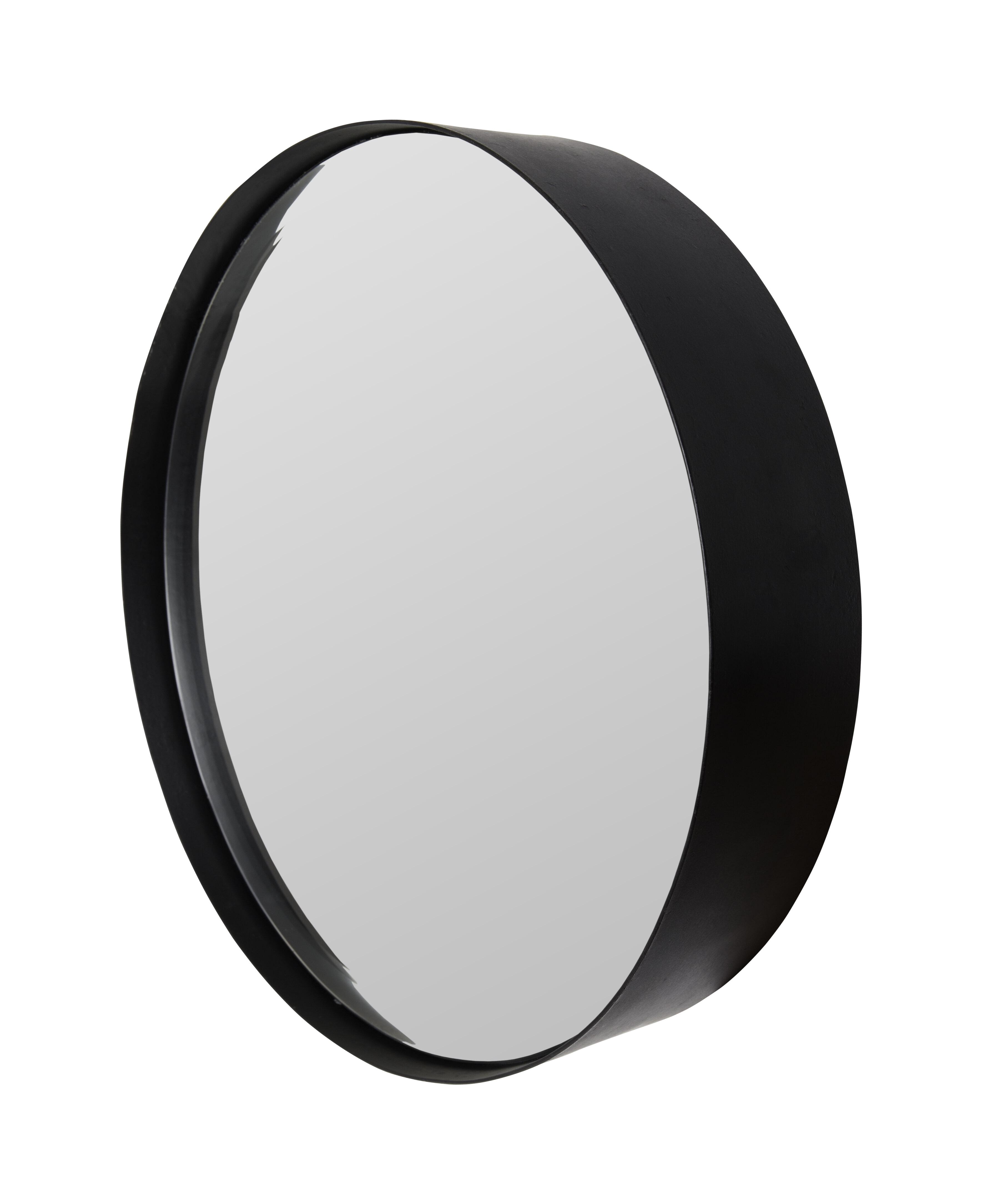 Ronde Spiegel 'Sal' 60cm, kleur zwart