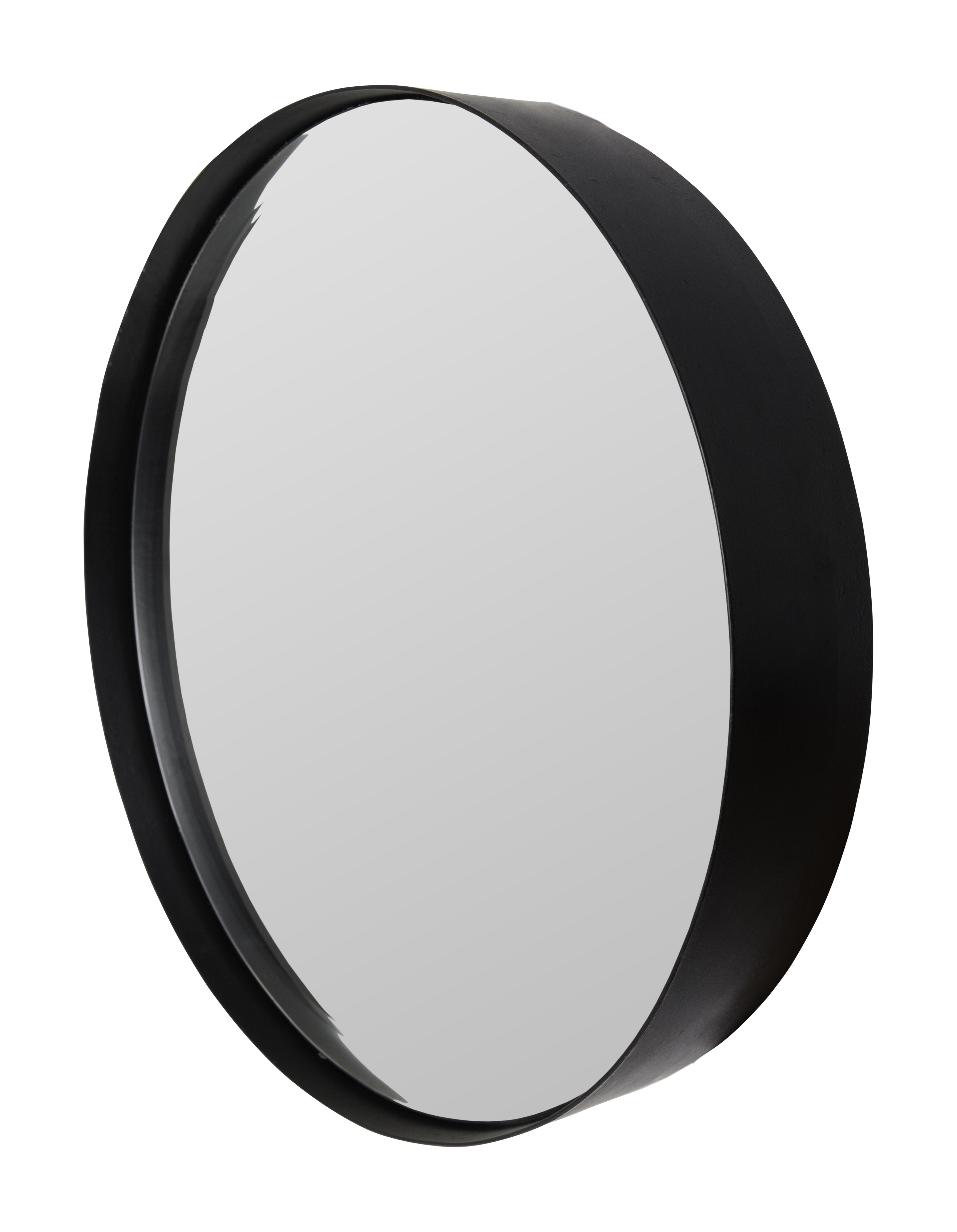 Ronde Spiegel 'Sal' 75cm, kleur zwart