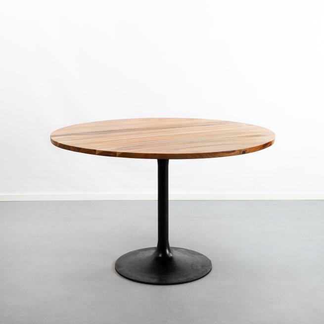 Light & Living Ronde Eettafel 'Biboca' Ø120cm, acacia hout-zwart