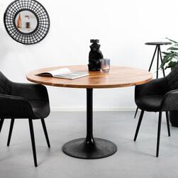 Light & Living Eettafel 'Biboca', acacia hout-zwart