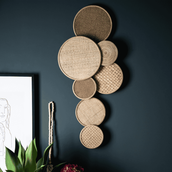 By-Boo Wanddecoratie 'Round & Round' 43 x 103cm
