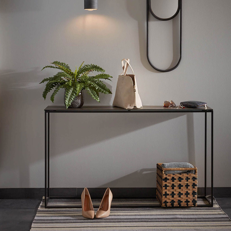 Kave Home Sidetable 'Rewena' zwart met keramisch blad