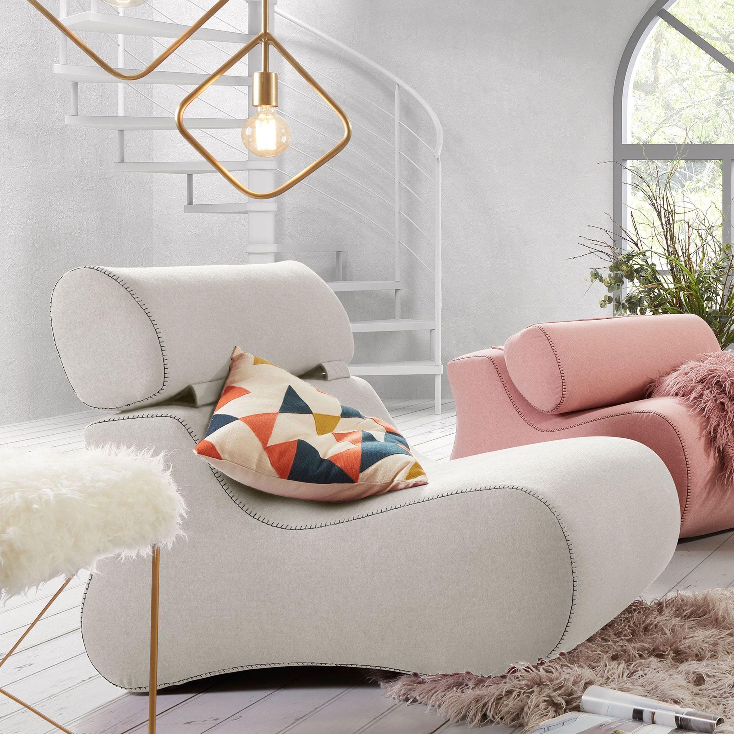 Kave Home Fauteuil 'Club' kleur beige