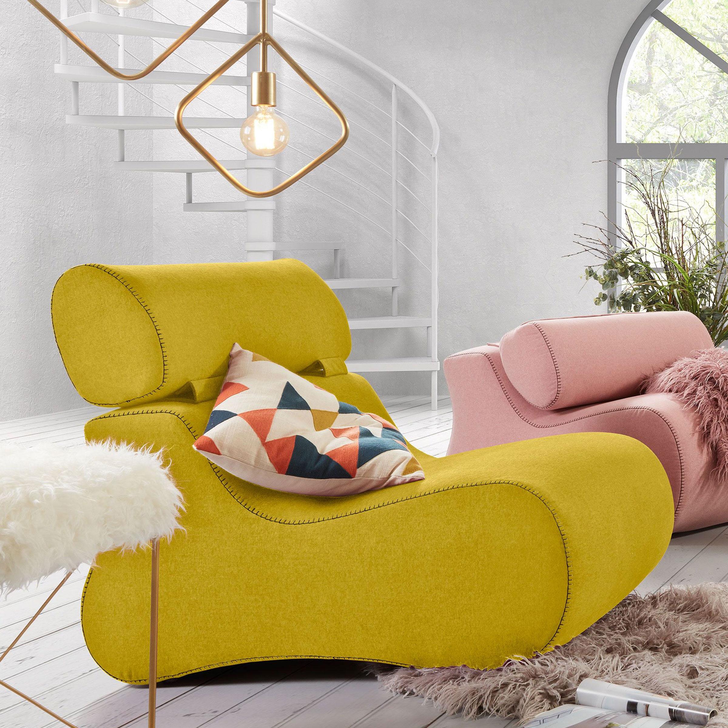 Kave Home Fauteuil 'Club' kleur geel