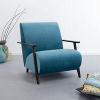 Kave Home Fauteuil 'Meghan' Velvet, kleur Turquoise