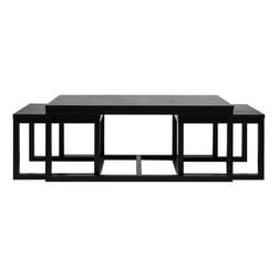 Bendt Salontafel 'Elton' set van 3 stuks, kleur zwart
