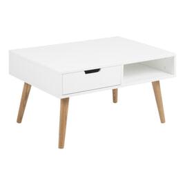 Bendt Salontafel 'Isaac' 80 x 60cm, kleur wit