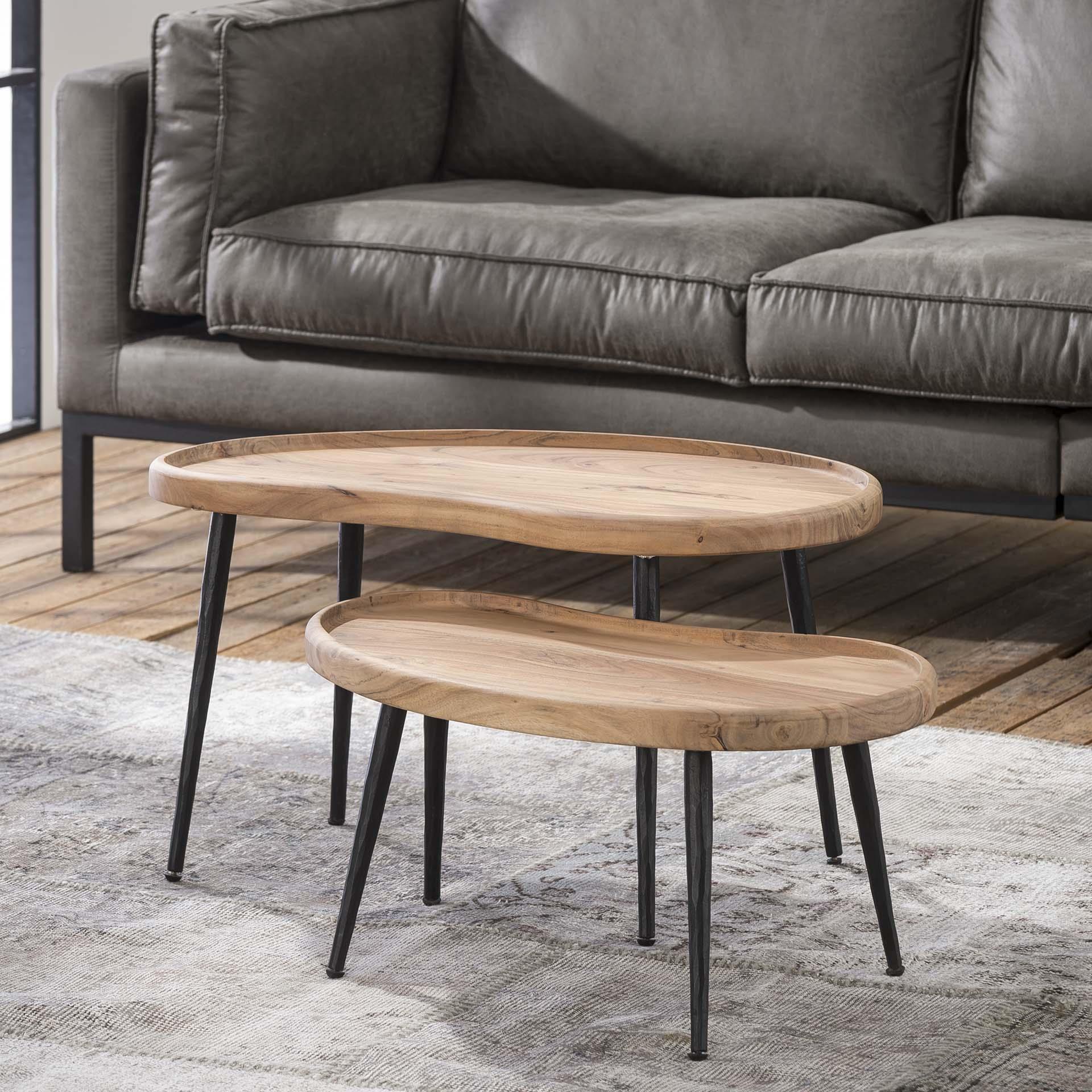 Salontafel 'Paul' set van 2 stuks Tafels | Salontafels vergelijken doe je het voordeligst hier bij Meubelpartner