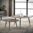 Salontafel 'Serge Rond' Set van 2 stuks, 3D-eiken vergrijsd