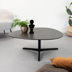 Sohome Salontafel 'Stephanie' Keramiek, 100 x 95cm, kleur Zwart