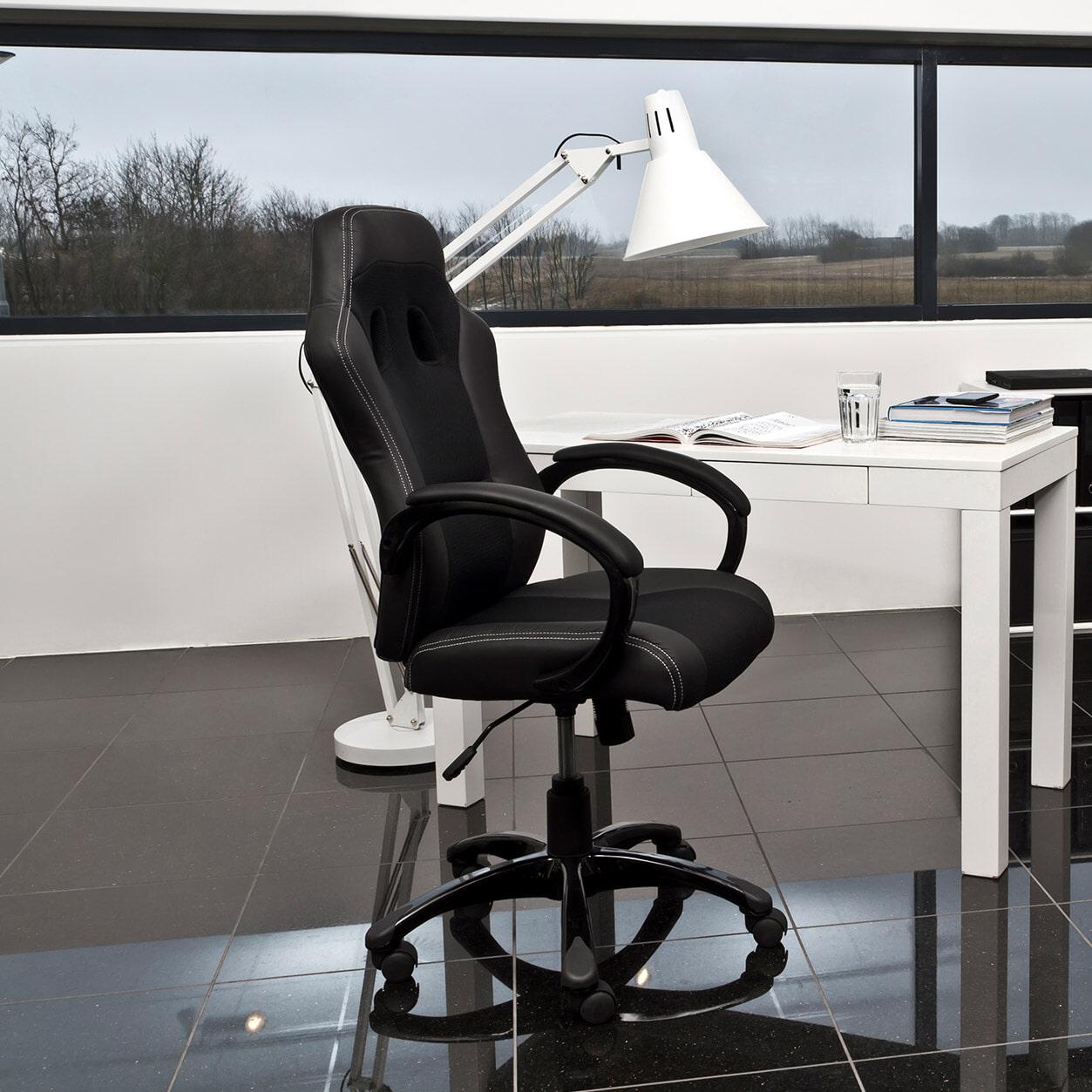 Bureaustoel 'Sandra' kleur zwart