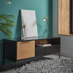 Kave Home TV-meubel 'Savoi' 120cm, kleur Zwart
