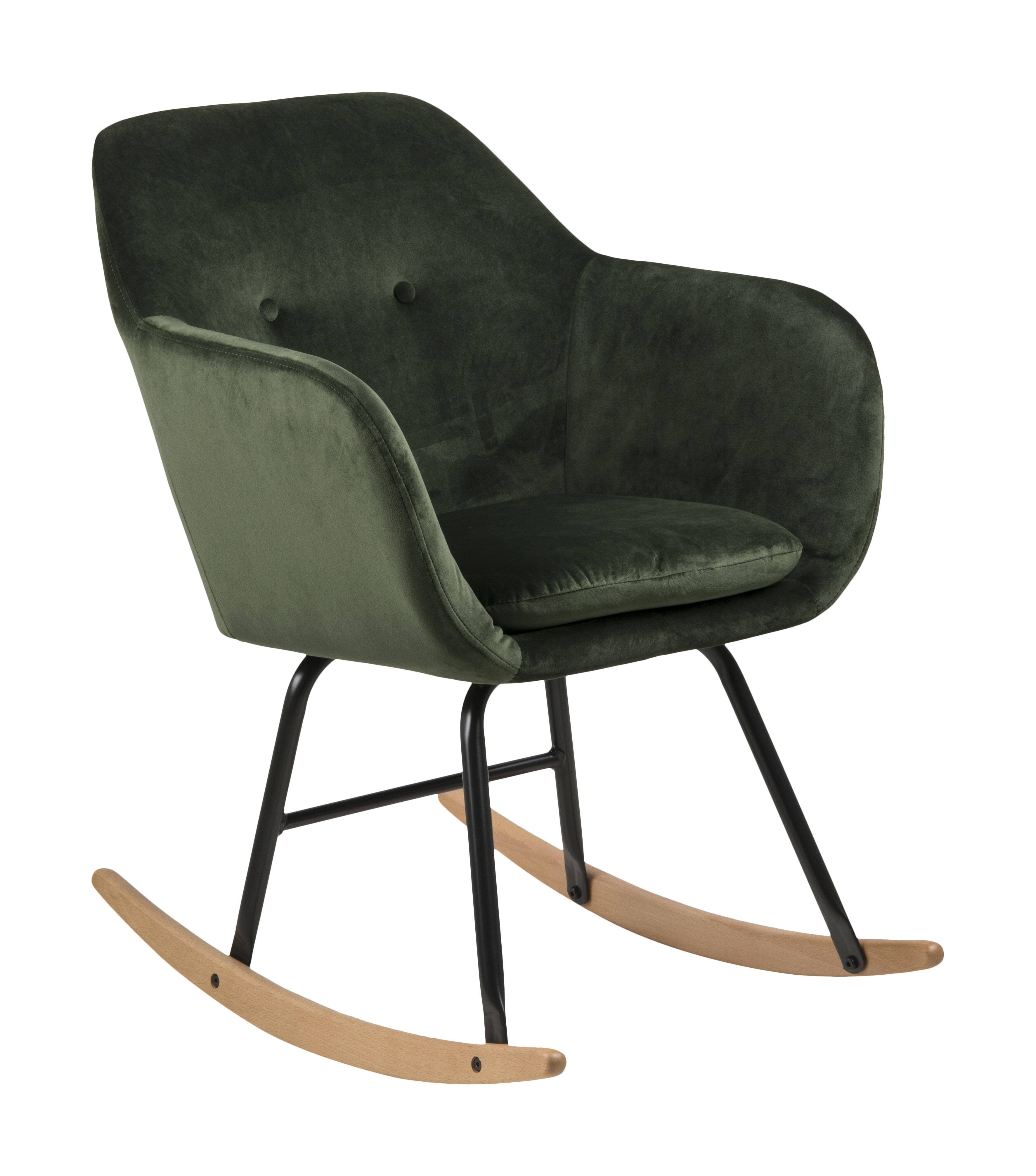 Schommelstoel 'Albin' Velvet, kleur Forest Green