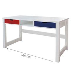 Bopita Bureau 'Sybe' 140 x 60cm, kleur wit