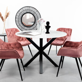 Sohome Ronde Eettafel 'Lille' Wit marmer, 110cm