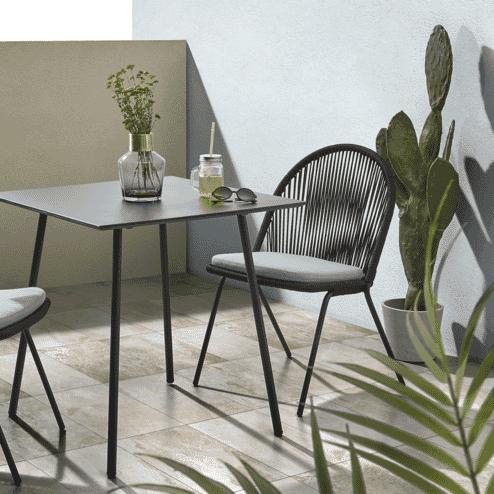 Kave Home Tuinstoel 'Shann', kleur Zwart