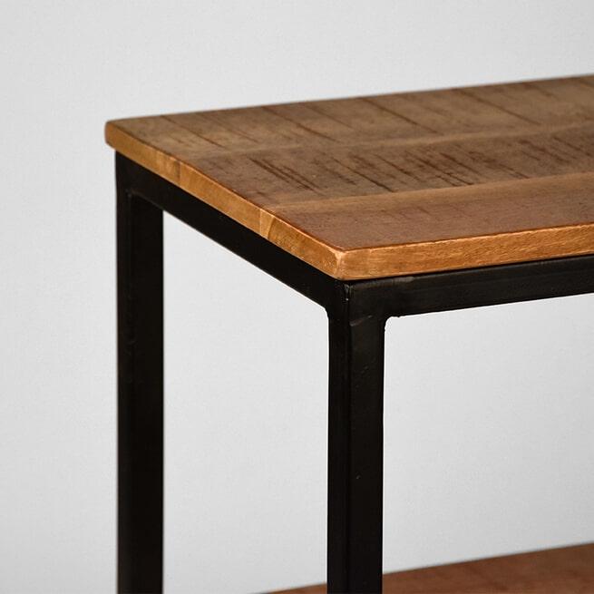 LABEL51 Sidetable 'Vintage' Mangohout, 110 x 35cm