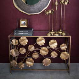 PTMD Sidetable 'Kacey', 120 x 80 x 40cm, kleur Goud