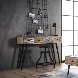 Sidetable 'Teca' Teak met 4 laden, 120 x 30cm